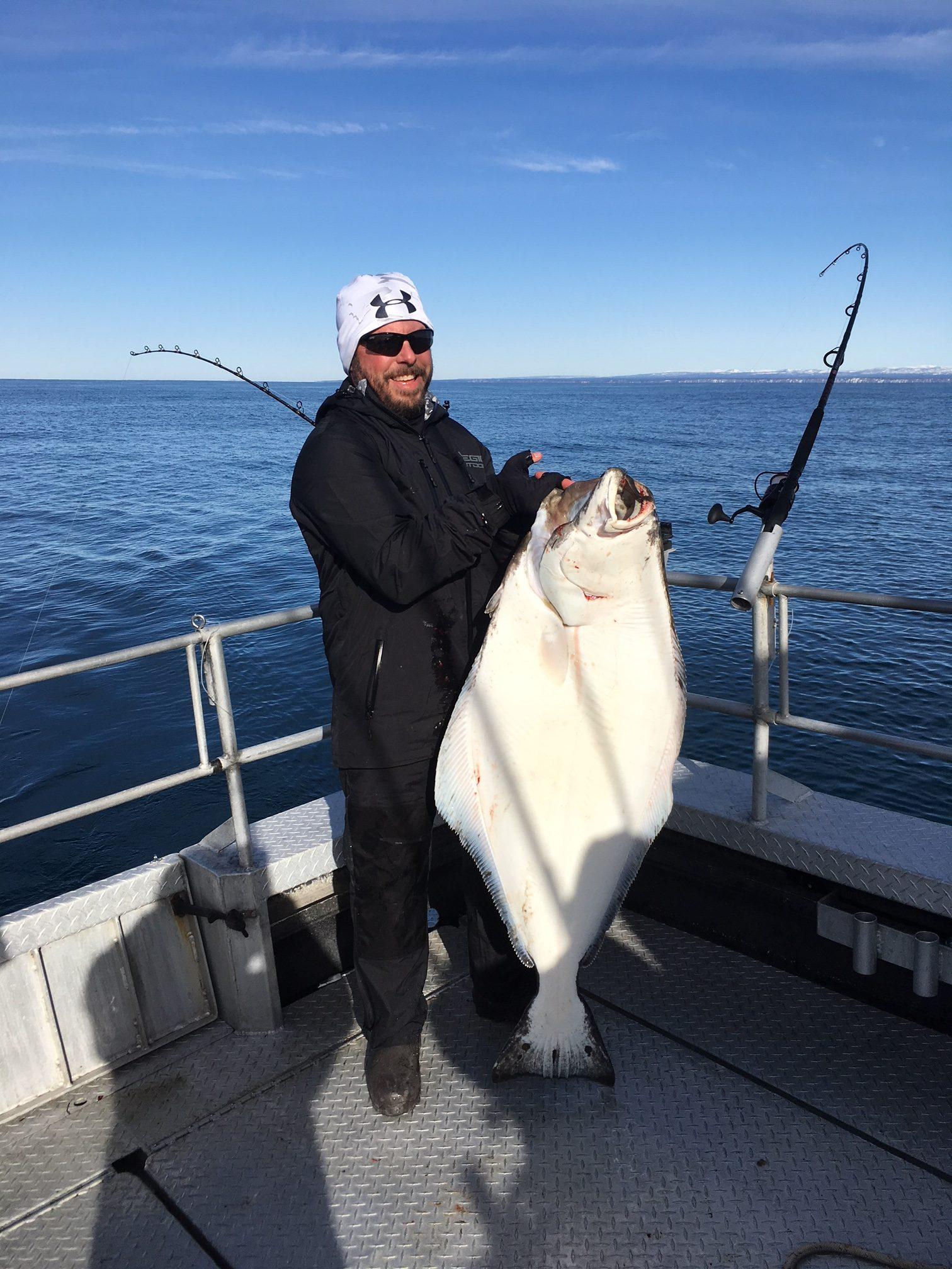 Early season homer halibut on the grande alaska with for Halibut fishing homer